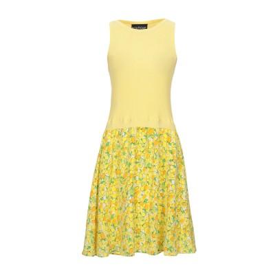 BOUTIQUE MOSCHINO ミニワンピース&ドレス イエロー 40 シルク 100% ミニワンピース&ドレス
