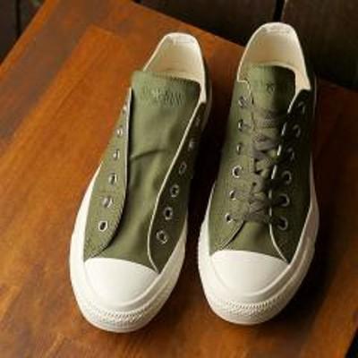 コンバース送料無料 コンバース CONVERSE スニーカー オールスター ミリタリー スリップ OX ALL STAR MILITARY SLIP OX [31302652 FW20] メンズ・レディース ローカット スリッポンシューズ 靴 OLIVE カーキ系