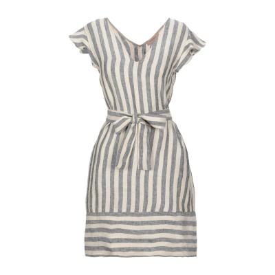 ツインセット シモーナ バルビエリ TWINSET ミニワンピース&ドレス ベージュ 40 麻 100% ミニワンピース&ドレス