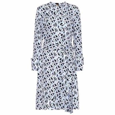 マルニ Marni レディース ワンピース ミドル丈 ワンピース・ドレス Printed silk midi dress Sky