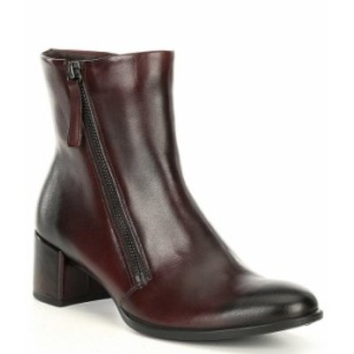 エコー レディース ブーツ・レインブーツ シューズ Shape 35 Block Heel Leather Booties Chocolate