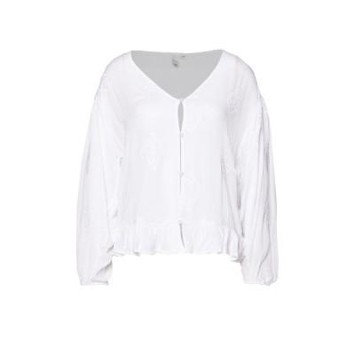 キュー エス デザイン バイ シャツ レディース トップス Blouse - white