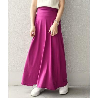(SHIPS WOMEN/シップス ウィメン)slic slic:フレアマキシスカート◇/レディース パープル