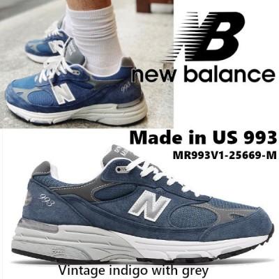 ニューバランス New Balance Made in US 993  メイドイン スニーカー メンズ インディゴ MR993V1-25669-M US直輸入 正規品・送料無料