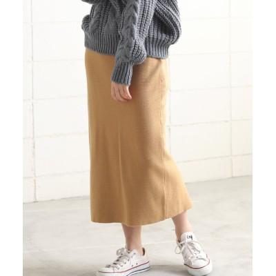 【ブージュルード】 ◆アンゴラタッチシリーズ◆タイトスカート レディース キャメル ONE SIZE Bou Jeloud