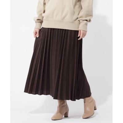 grove / 【S-LL】ピーチサテン親子プリーツスカート WOMEN スカート > スカート