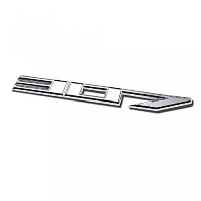 全国配送料無料!金属エンブレム デカールのロゴ トリム バッジ「307」(シルバー) 海外正規流通品 並行輸入品