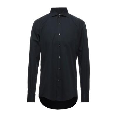 MASSIMO BRUNELLI シャツ ブラック 42 コットン 100% シャツ