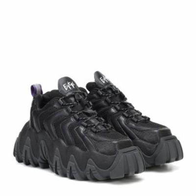 エイティーズ Eytys レディース スニーカー シューズ・靴 Halo leather sneakers Black