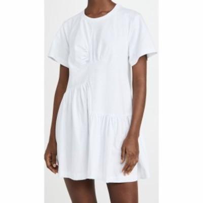 マルケス アルメイダ Marques Almeida レディース ワンピース ワンピース・ドレス Panelled Gathered Dress White
