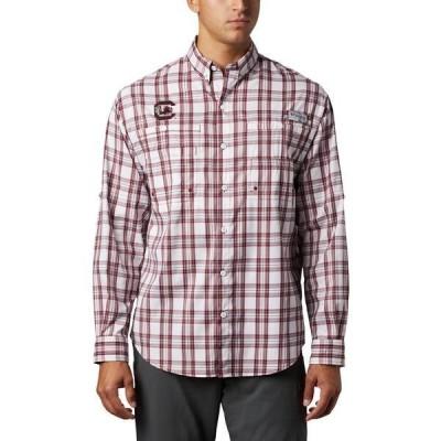 コロンビア シャツ トップス メンズ Columbia Sportswear Men's University of South Carolina Super Tamiami Button Down Shirt Maroon