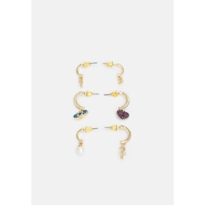 アルド ピアス&イヤリング レディース アクセサリー HAEDI 3 PACK - Earrings - clear/blue/blush/gold-coloured