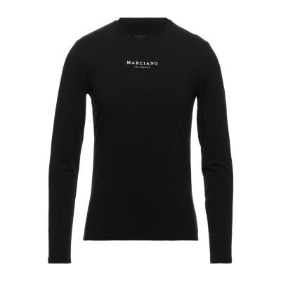 MARCIANO T シャツ ブラック S コットン 95% / ネオクリル® 5% T シャツ