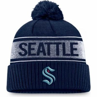 ファナティクス Fanatics メンズ ニット ビーニー 帽子 Seattle Kraken Iconic Cuff Knit Beanie