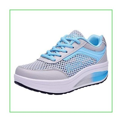 Women's Athletic Mesh Breathable Casual Sneakers Lace Up Running Comfort Sports Fashion Tennis Shoes Blue