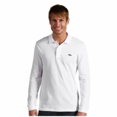 ラコステ Lacoste メンズ ポロシャツ トップス Long Sleeve Classic Pique Polo Shirt White