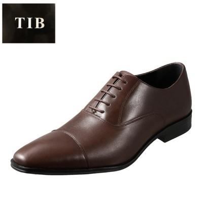 ティーアイビー T.I.B TIB-9802 メンズ | ビジネスシューズ | ストレートチップ | 本革 牛革 | ダークブラウン