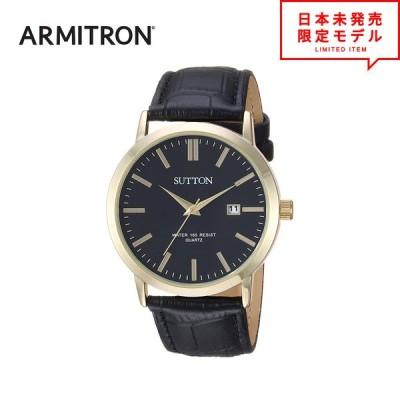 最安値挑戦中! ARMITRON アーミトロン メンズ 腕時計 リストウォッチ SU/5001BKGP ブラック/ゴールド 海外限定 時計 日本未発売 当店1年保証