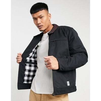 エレメント メンズ ジャケット・ブルゾン アウター Element Craftman jacket in black