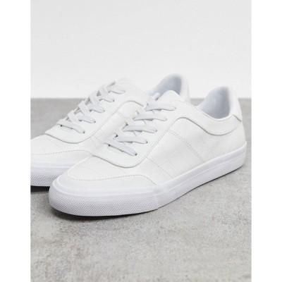 エイソス レディース スニーカー シューズ ASOS DESIGN Dandy lace up sneakers in white White mix