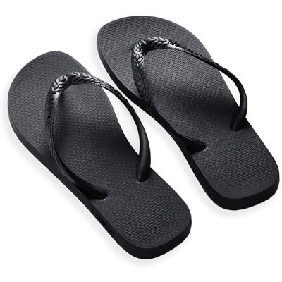 [Lamher] ビーチサンダル シューズ レディース スリッパ 滑り止め 夏 海辺 浴室 【ブラック】 235