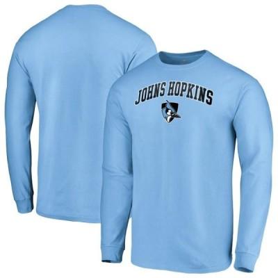 ユニセックス スポーツリーグ アメリカ大学スポーツ Johns Hopkins Blue Jays Fanatics Branded Campus Long Sleeve T-Shirt - Light B