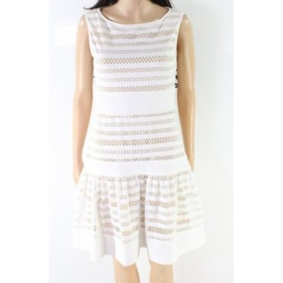 taylor テイラー ファッション ドレス Taylor NEW White Womens Size 6 Lace Knit Pleated A-Line Sheath Dress