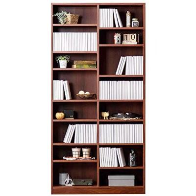 アイリスオーヤマ 本棚 書棚 コミックラック 大容量タイプ コミック本784冊 収納力 可動棚 幅89奥行28.8高さ180.0 CORK-1890 ウォールナットe)ウォールナットb)幅90×高18