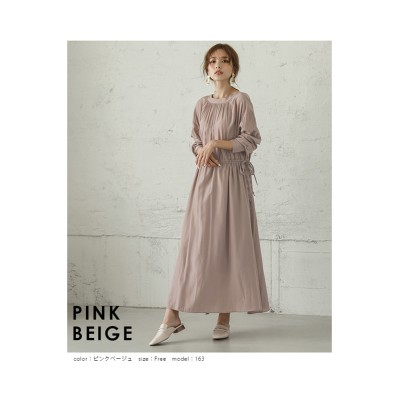 【la-gemme】2WAYブラウジングシャツワンピース (ワンピース)Dress