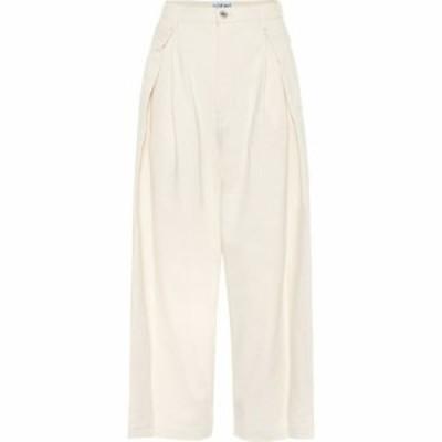 ロエベ Loewe レディース ジーンズ・デニム ボトムス・パンツ high-rise cropped jeans Ivory