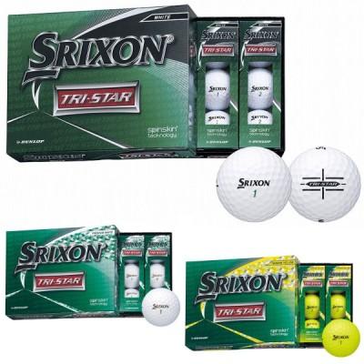 DUNLOP(ダンロップ)日本正規品 SRIXON(スリクソン) TRI-STAR(トライスター) 2020モデル ゴルフボール 1ダース(12個入り)