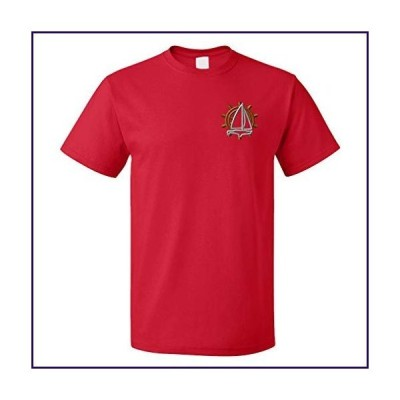 Funny Graphic T Shirts for Men Sailing Logo Cotton Top Red X Large【並行輸入品】