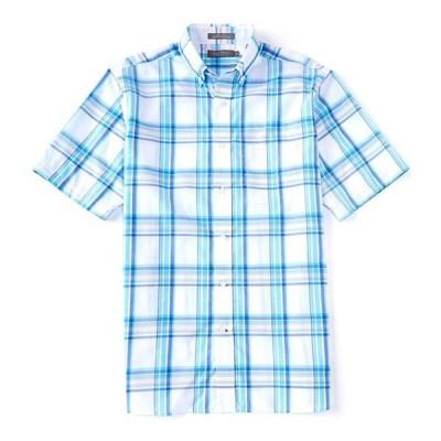 ダニエル クレミュ メンズ シャツ トップス Daniel Cremieux Signature Plaid Short-Sleeve Woven Shirt