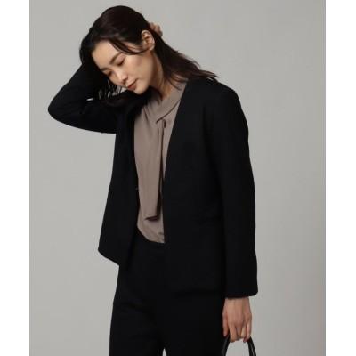 (UNTITLED/アンタイトル)◆【洗える・抗菌防臭】レイナジャージーVネックジャケット/レディース ブラック(019)