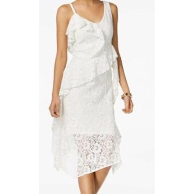 taylor テイラー ファッション ドレス Taylor NEW White Womens Size 12 Floral Ruffled Lace Sheath Dress