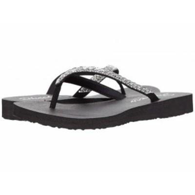 SKECHERS スケッチャーズ レディース 女性用 シューズ 靴 サンダル Meditation Shine Away Black【送料無料】