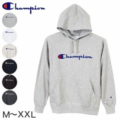 Champion 裏毛プルオーバーフード プリントスウェットシャツ M~XXL (在庫限り)
