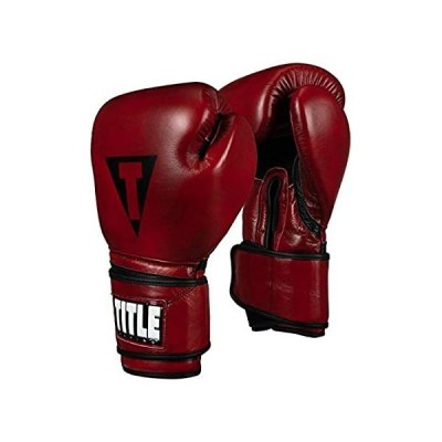 Title Blood Red Leather Training Gloves, Red, 12 oz好評販売中