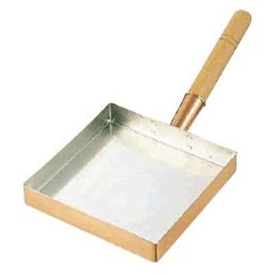 たまご焼器 銅 玉子焼 関東型 15cm (150×150×30mm) (7-0514-0101)