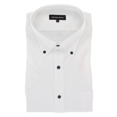 【大きいサイズ】グランバック/GRAND-BACK Biz ボタンダウン半袖ニットポロシャツ