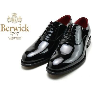 バーウィック プレーントゥ BERWICK 3053 K1 ブラック パテント