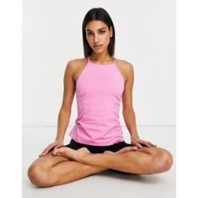 エイソス レディース タンクトップ トップス ASOS 4505 icon yoga cami top in cotton touch Pink