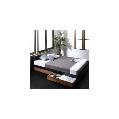 ベッドフレーム 収納ベッド シングル マットレス付き 棚 コンセント付き2杯収納ベッド 三つ折りウレタンマットレス付き シングル