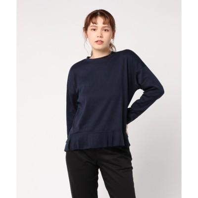 シャツ ブラウス 【La・comfy】マットカットソー フリル袖プルオーバー