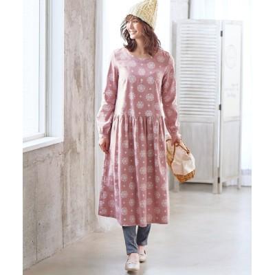 【大きいサイズ】 綿100%プリントワンピース ワンピース, plus size dress