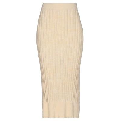 JIL SANDER NAVY 7分丈スカート ライトイエロー S コットン 100% 7分丈スカート