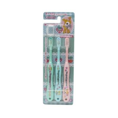 ハミングミント 歯ブラシ 子供用ハブラシ3本セット 小学生用 サンリオ スケーター 6〜12才用 歯磨き キャラクター