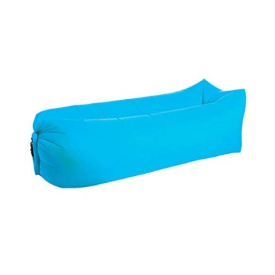 Zhangxiaowei Garden Sofas Waterproof Inflatable Bag Lazy Sofa for Camping Sleeping Bags Air Bed Adult Beach Chair Blue,Blue【並行輸入品】