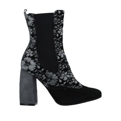 ISLO ISABELLA LORUSSO ショートブーツ ブラック 35 化学繊維 / 伸縮繊維 / 革 ショートブーツ