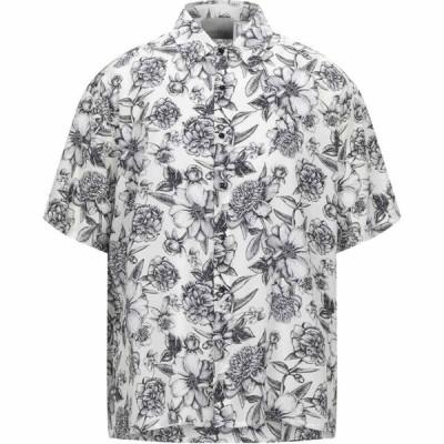 ラネウス LANEUS メンズ シャツ トップス patterned shirt White